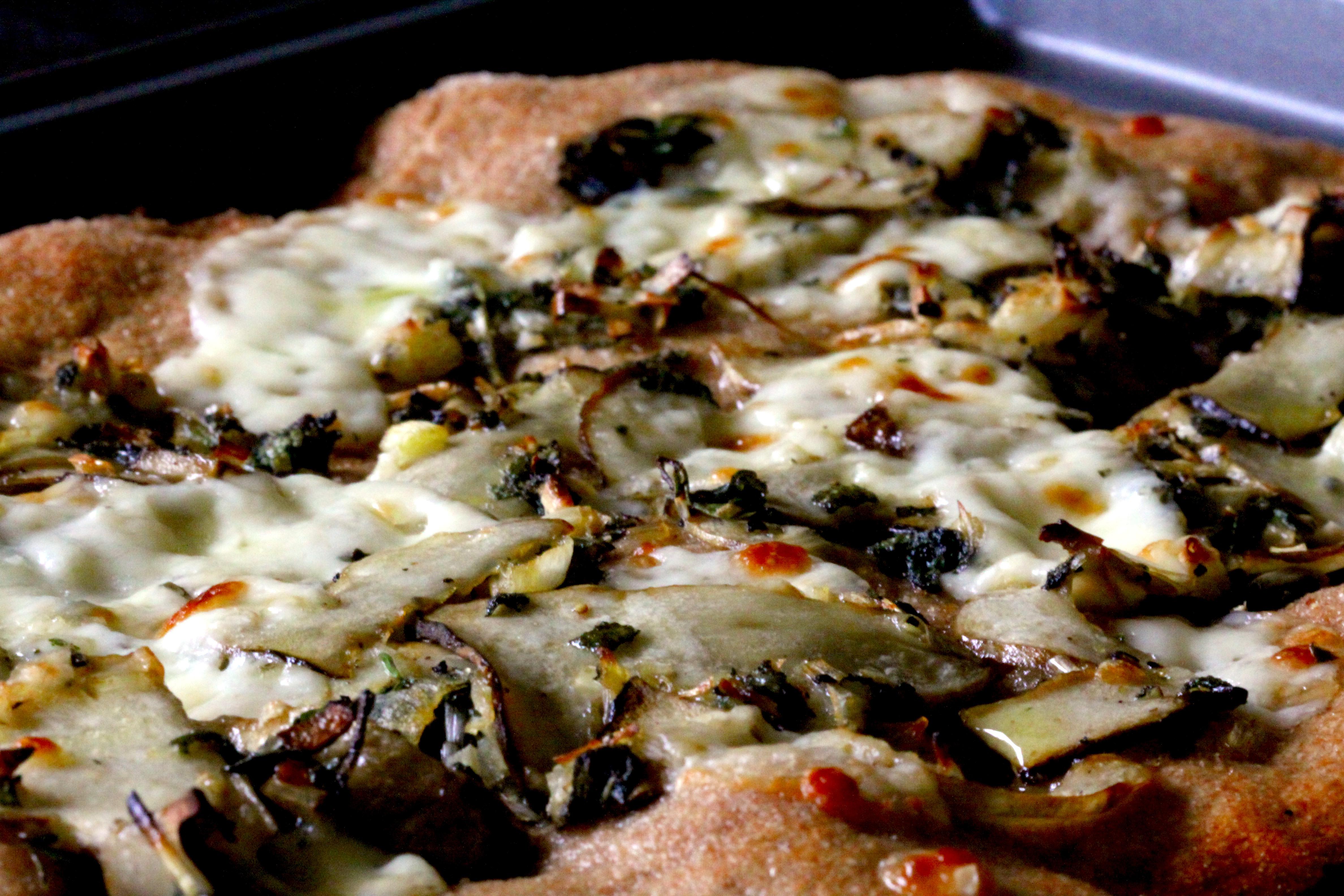 Morel mushroom pizza2
