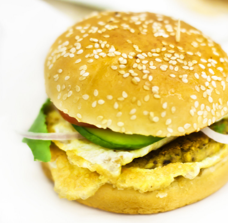 Egg Shami Kabab Bun at Chatkhara Dubai