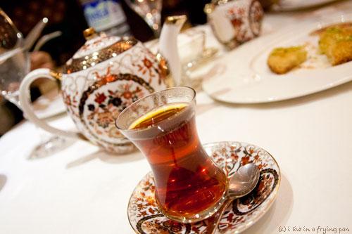 Turkish Tea - Yildiz Saray - Turkish Restaurant Dubai