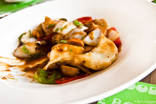 Braised Dumplings in Black Bean Sauce - Noodle Bowl - Dubai