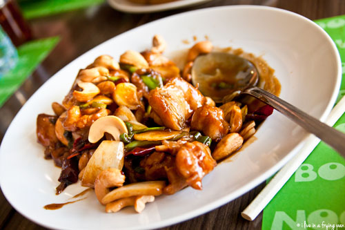 Sichuan Chicken with Cashew Nuts - Noodle Bowl - Dubai