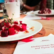Beetroot with marinated onions and pine nuts and thyme - Dima Sharif at Book Munch Cafe