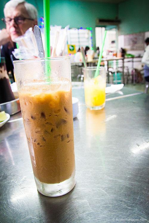 Vietnamese coffee with condensed milk - Saigon Street Eats - Ho Chi Minh City - Vietnam