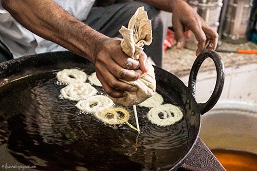 Making fresh Jalebi - Imdad Sweets - Naif - Deira Dubai
