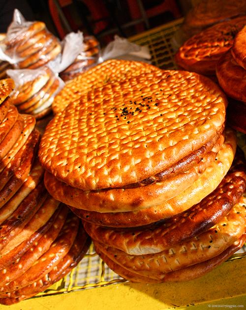 Fresh bread - Tehran Iran