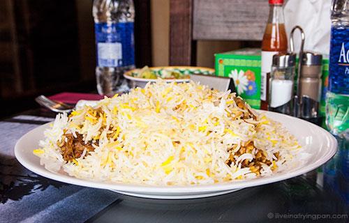 Taht laham - Lamb and rice - Jawareh Traditional Restaurant - Emirati food - Qusais - Dubai