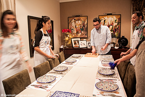 Setting the table for Iftar - Lets Talk Food Dubai - Cooking Class - Iftar Ramadan - Dubai
