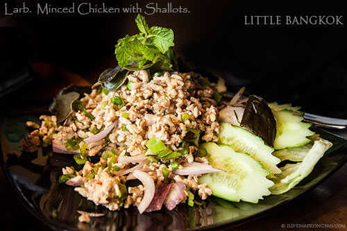 Minced chicken with lemongrass - Little Bangkok - Thai Restaurant - Oud Metha Dubai