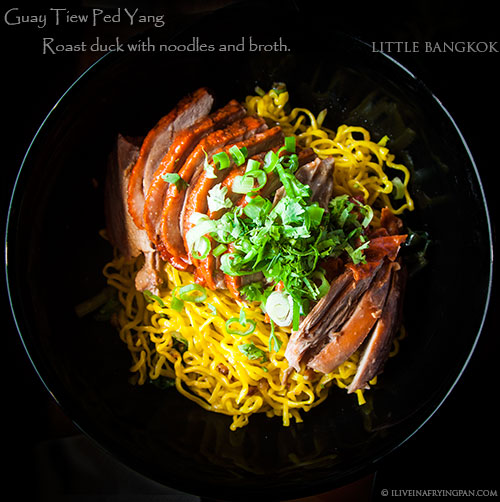 Roast duck with egg noodles -  - Little Bangkok - Thai Restaurant - Oud Metha Dubai