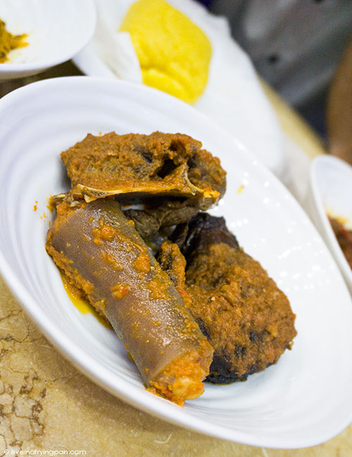 Nigerian food - Cow's tail and preserved catfish - King Taste Restaurant - Naif - Dubai