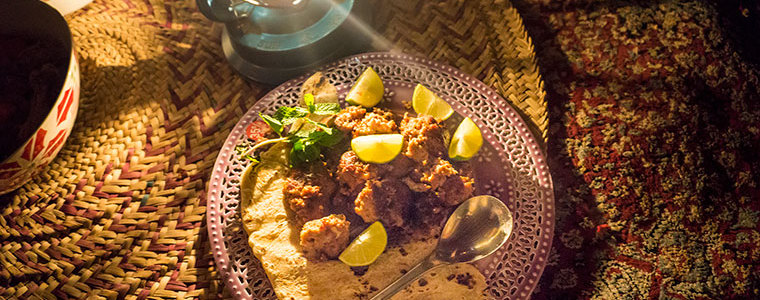 Camel meatballs - Ushi's camel farm - Dubai