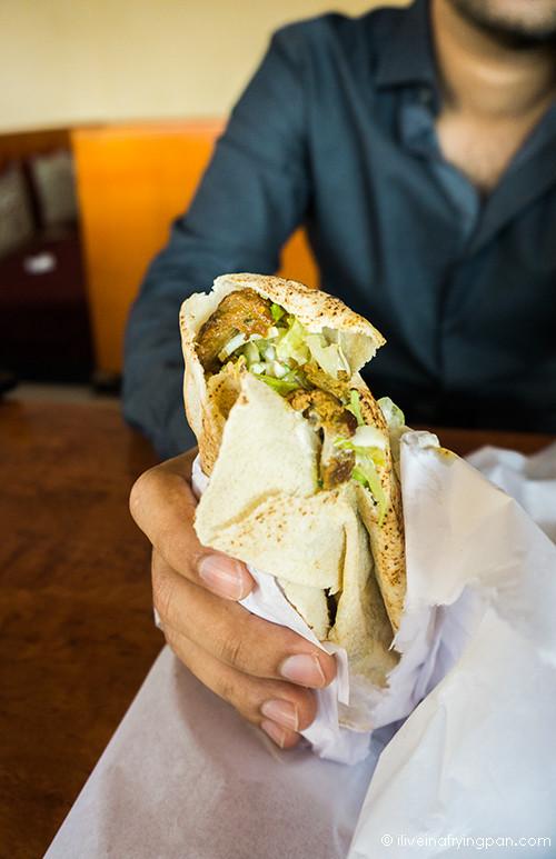 Camel meat shawarma - Zaina Restaurant - Jumeirah Dubai