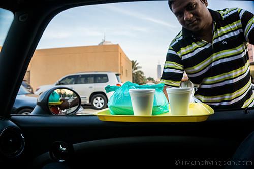 Karak Chai and Luqaimat - Nasmat Al Sahra Cafeteria  - Jumeirah Dubai